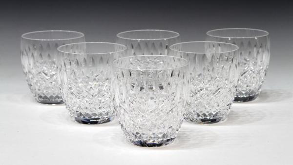 6 Waterford Cut Crystal 'castlemaine' Tumblers - Special Italian Mid-century Design & Antiques