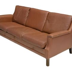 Modern Brown Leather Sofa Fabric Protection Worth It Danish Mid Century August