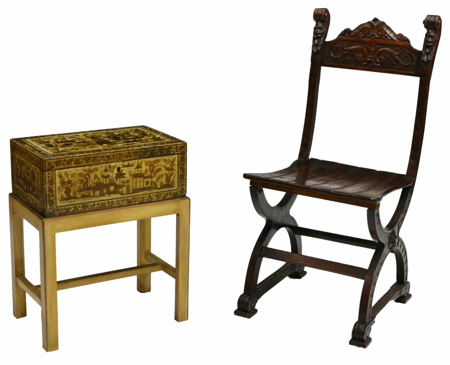 chair box stand stool adalah 2 carved wood x and asian on spectacular