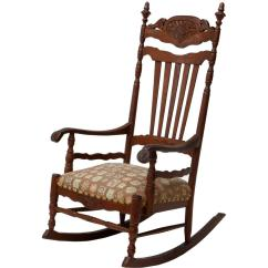 Antique Rocking Chair Price Guide Hanging Modern Carved Oak Spectacular