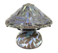TIFFANY STYLE STAINED GLASS DRAGONFLY TABLE LAMP - May ...