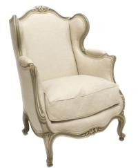 FRENCH LOUIS XV WING BACK CHAIR - June Estates Auction ...