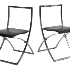 Folding Chair Auction China Mall Covers 2 Italian Modern Design Chromed Chairs Summer