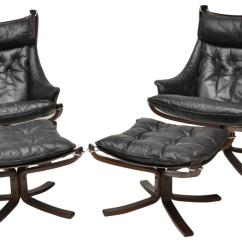 Leather Sling Chairs Loveseat Dining Chair Pair Vatne Falcon And Stools Italian