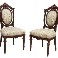 Victorian Parlor Chairs Chair Stand For Sale 2 American Carved 19thc The