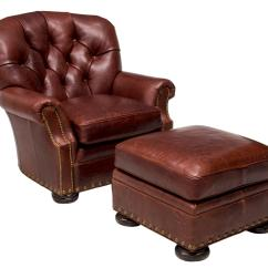 Tufted Chair And Ottoman Bassett Furniture Chairs 2 Brown Leather Club The Crier