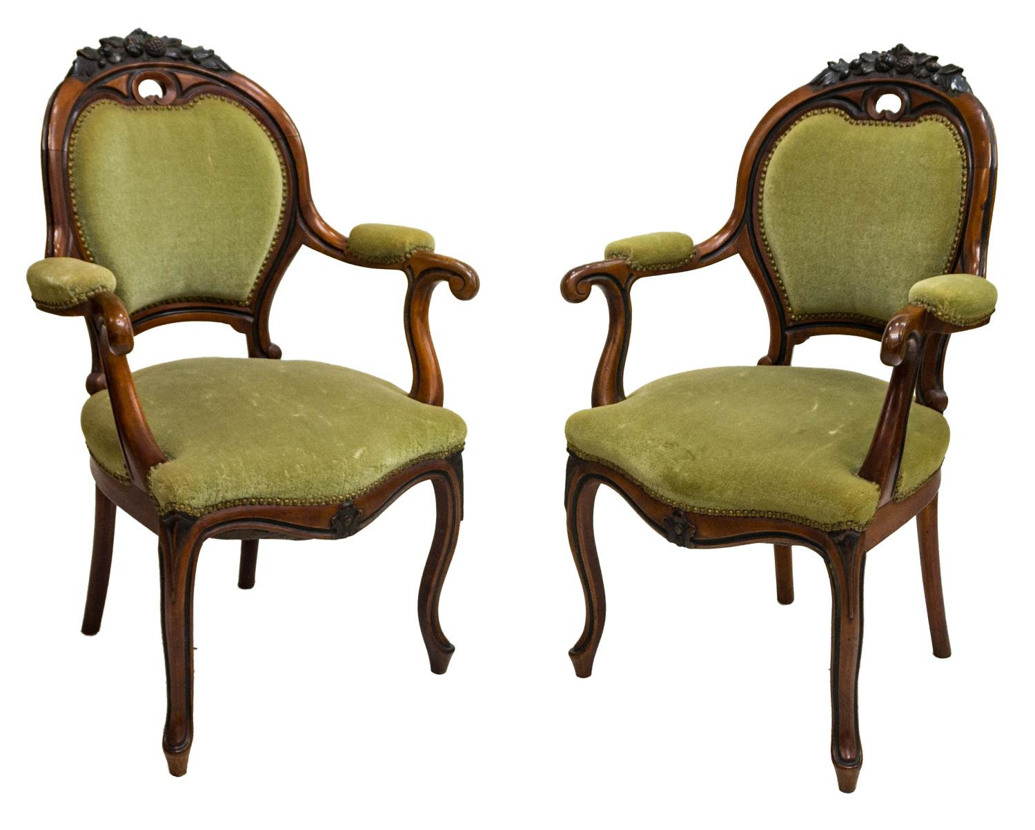 victorian parlor chairs posture chair for elderly 2 american open arm 19thc the