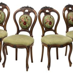 Victorian Parlor Chairs Modern Brown Leather Accent Chair 4 American Carved 19thc The