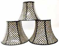 (3) MACKENZIE-CHILDS COURTLY CHECK LAMP SHADES - February ...