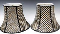 (2) MACKENZIE-CHILDS 'COURTLY CHECK' LAMP SHADES ...