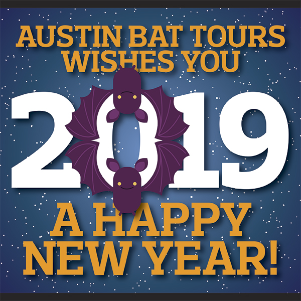 art graphic image Austin Bat Tours Wishes You A Happy New Year!