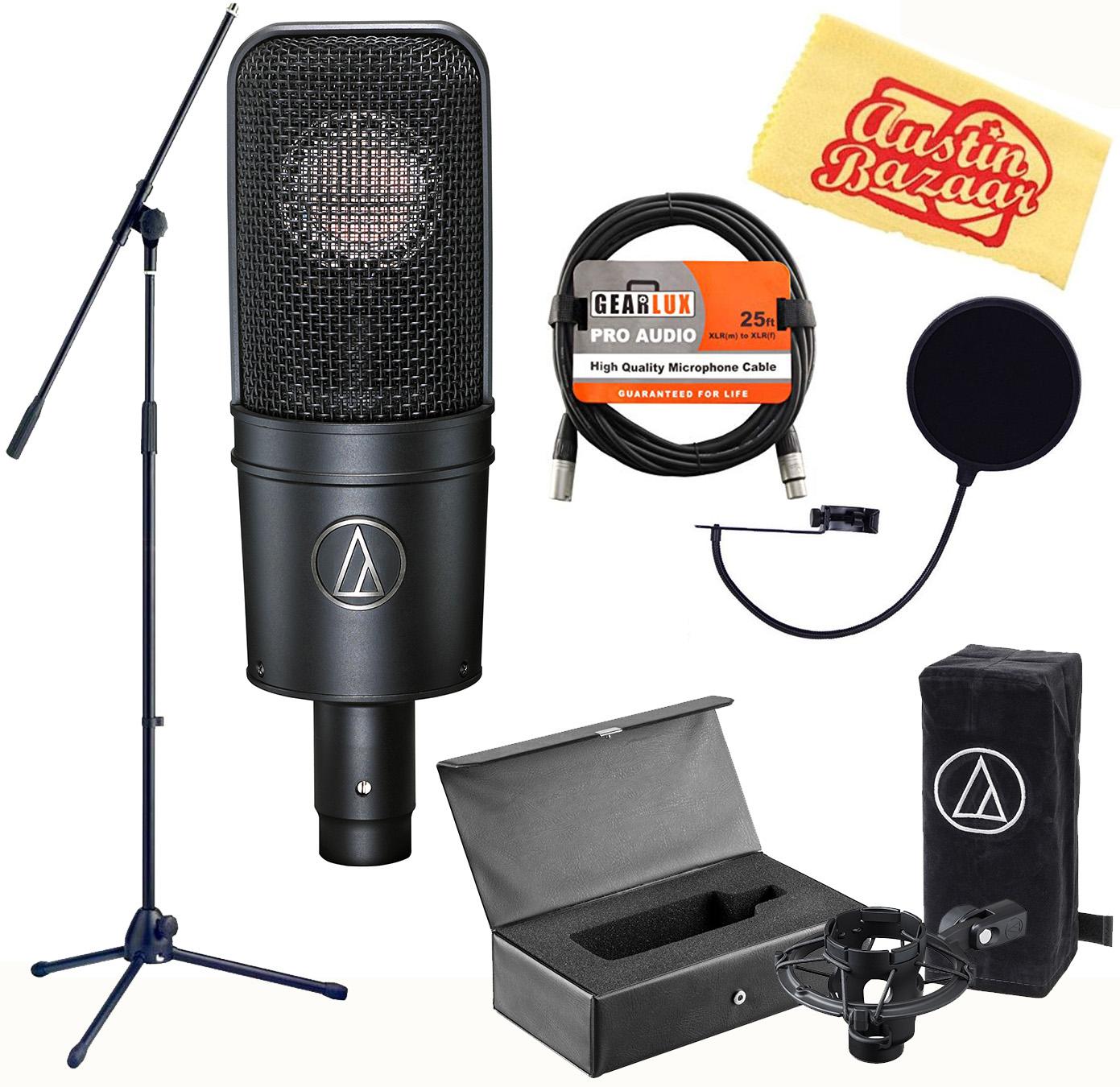 Audio-Technica AT4040 Cardioid Condenser Microphone w/ Boom Stand 42005127955   eBay