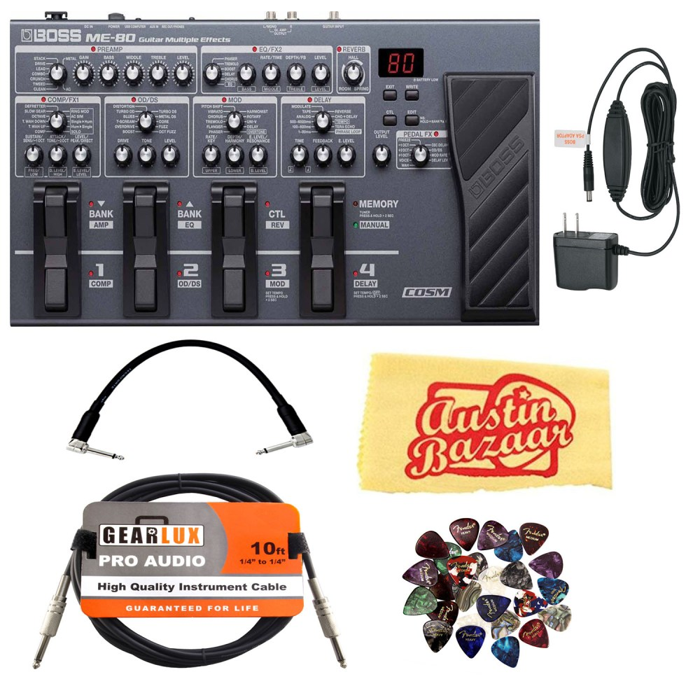 medium resolution of image is loading boss me 80 multi effect pedal w power