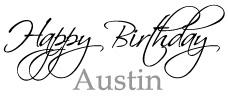 Happy 1st Birthday Austin!
