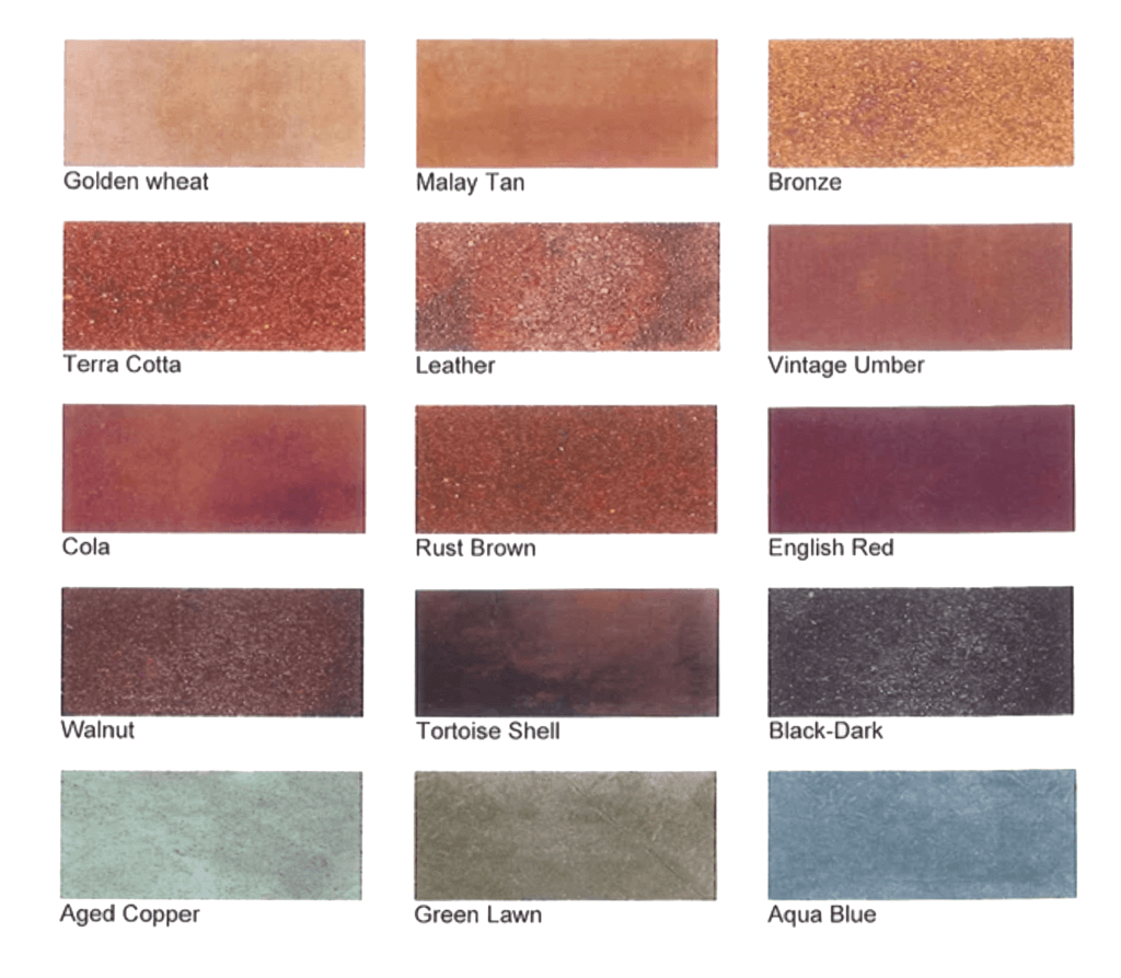 Concrete Stained Colors