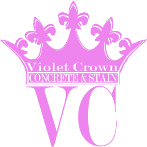 Violet Crown Logo - Concrete Staining
