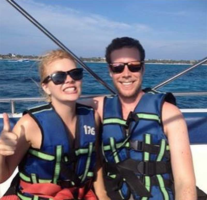 All suited up for parasailing