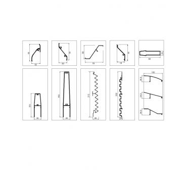 Decorative louvres design