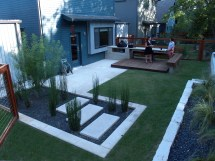 Modern Small Backyard Design With Kitchen Dining And