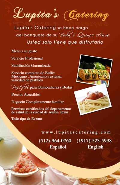 Lupitas Catering Austin  Quinceanera and Wedding Caterers Austin TX  Austin Quinceanera
