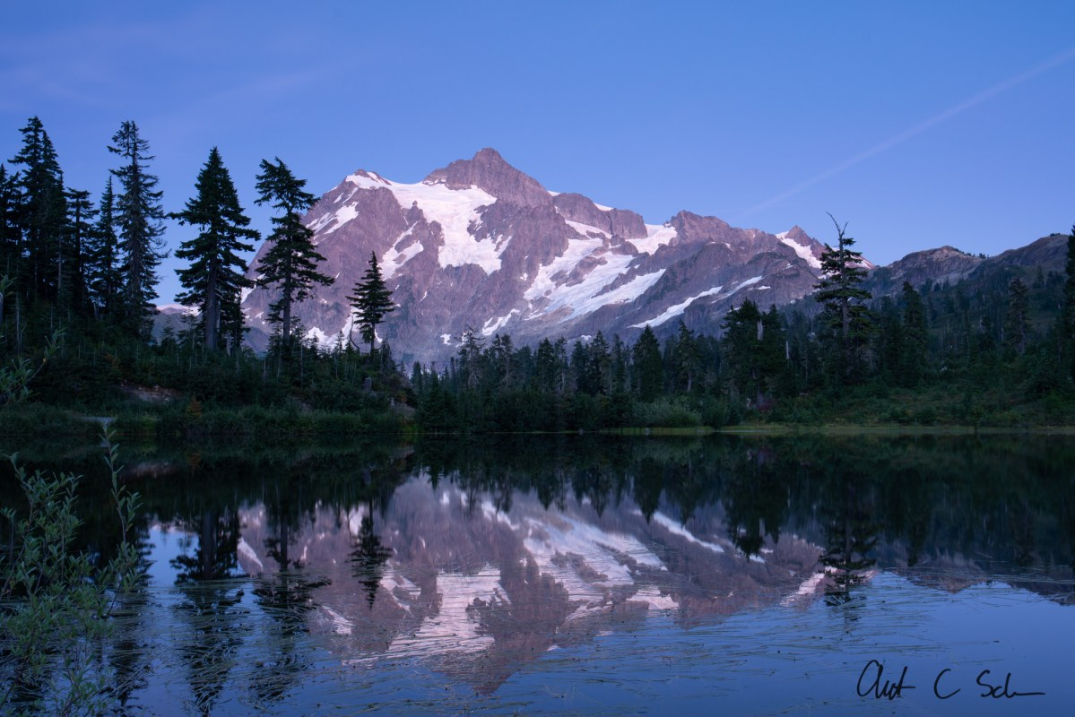 Mount Shuksan: Blue Hour is Better, Sometimes