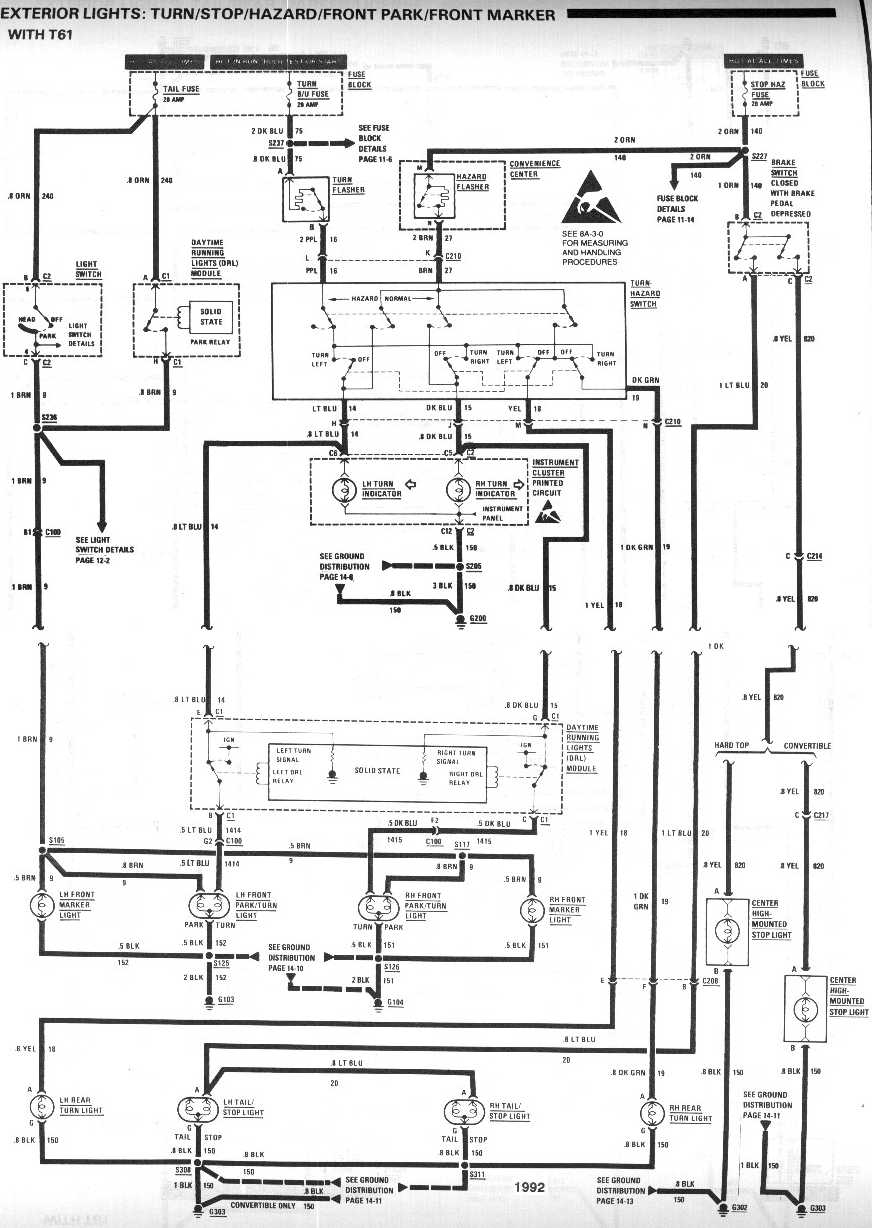 Wiring Diagram For Brake Switch Connector For A 1998 Chevy