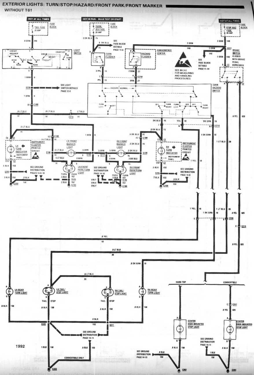 Third Gen Camaro Light Switch Wiring Diagram, Third, Free