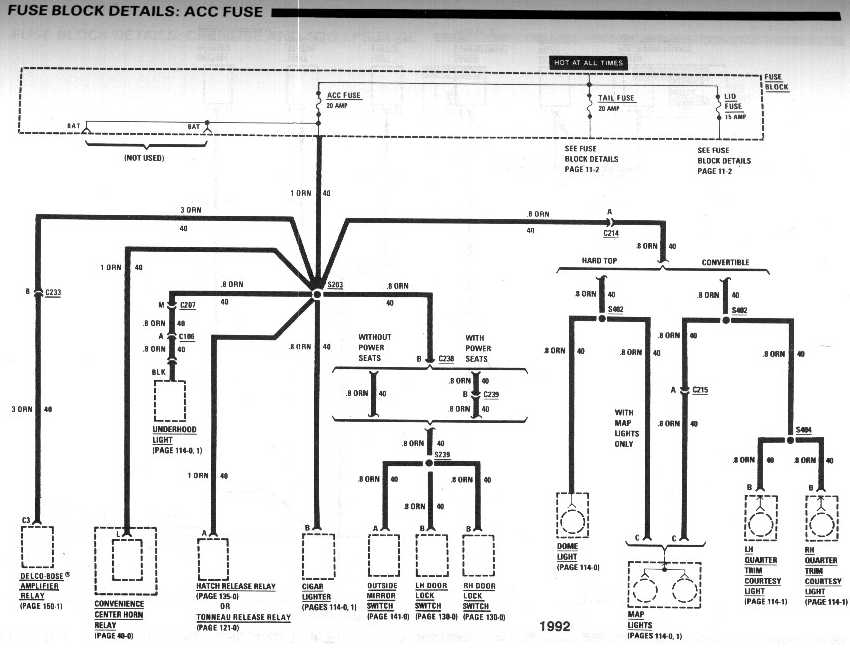 fuse box diagram for 1992 chevy camaro rs