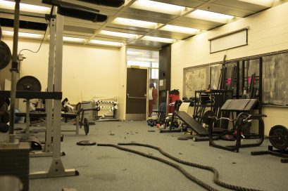 WHAT A CHANGE: A before image, of Michelle Clark's fitness space, which was transformed with the help of the Lift Life Foundation and Optimum Nutrition. | Photo provided by Lift Life Foundation