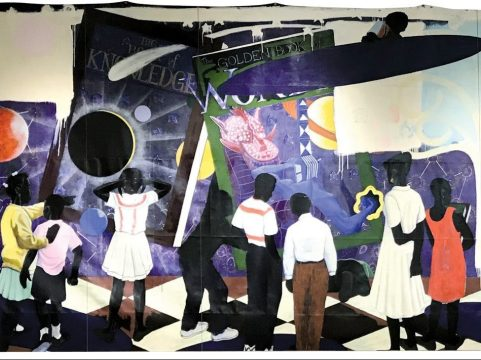 OFF THE CHOPPING BLOCK: Kerry James Marshall's 'Knowledge and Wonder' will not be auctioned off after all. The painting is headed back to its home at Legler. | Photo provided