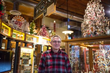 Father Christmas: Jerry Ehrenberger started collecting unusual Christmas lights in fourth grade. His extensive collection can more than fill up his Austin home around the holidays. | ALEXA ROGALS/Staff Photographer