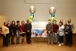 FORWARD TOGETHER: The people who helped facilitate the drafting of Austin's historic quality of life plan bask in their accomplishment at the plan's unveiling on Dec. 15 in Austin. Now, there's even more implementation work to do. | Photo courtesy Austin Coming Together
