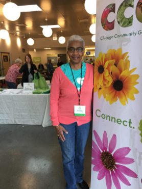GREEN THUMBS: Gina Wade was this year's conference chair. Above, Mina Wade wears her colorful hat to celebrate healing and the vibrancy of gardens. | BONNIE McKEOWN/Contributor