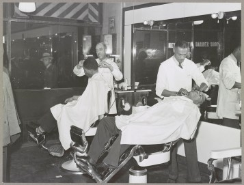Owners of barbershops and other enterprises. | Library of Congress