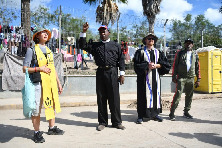 "Border crossing: Activists and clergy from Chicago and Oak Park, including Rev. Ira Acree (center), who pastors on the West Side, traveled to the U.S.-Mexico border last week. Now back, they're condemning the ""atrocities"" related to the country's immigration system. 