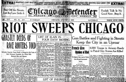 SHUTTERED AND STRUCK: The cover of a 1919 print edition of the Chicago Defender, which published its last print edition on July 10. | File photo