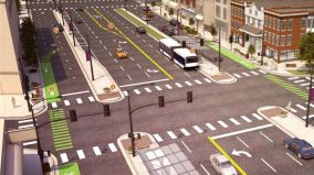 GET ON THE BUS: A revitalized Ogden Avenue corridor with the renewed #157 bus, as envisioned by the North Lawndale Quality of Life Plan. | Photo provided