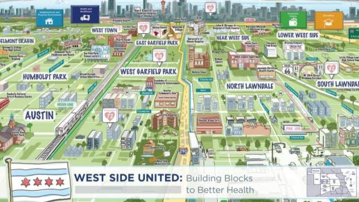 ASSETS: A map of health assets on the West Side. Soon a school will be added to the offerings. | Graphic provided
