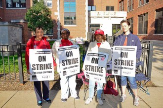 Give and take: The teachers' union and Chicago School board at odds over such issues as teacher evaluation and class size.