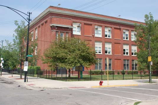 """Over and out? Emmet Elementary School, 5500 W. Madison, in Austin is among a handful of city schools CPS says is """"underutilized.""""File photo"""
