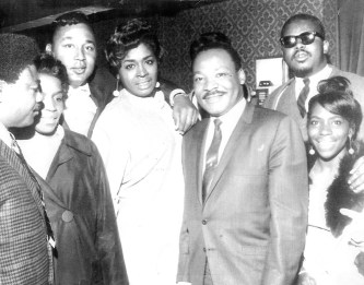 John Crawford (far right) was among the West Side pastors who worked with King while the civil rights leader was in Chicago.