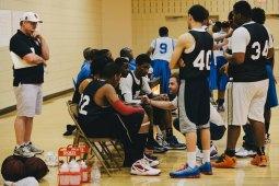 The drill: 931 Basketball players practicing in Oak Park.Photos courtesy Calvery Memorial Church