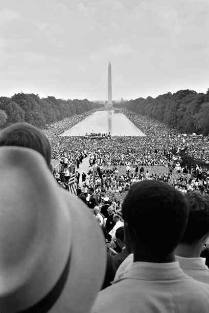 View from the Lincoln Memorial toward the Washington Monument on August 28, 1963.