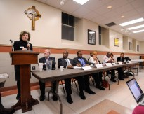 Dialogue: A panel of Oak Park and Austin experts discuss issues. (Jennifer Wolfe/Contributor)