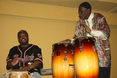 Malcolm Crawford and Rickie Brown performed at a March 14, jam session at the Sankofa Cultural Arts Center. (DAISY WINFREY/Contributor)