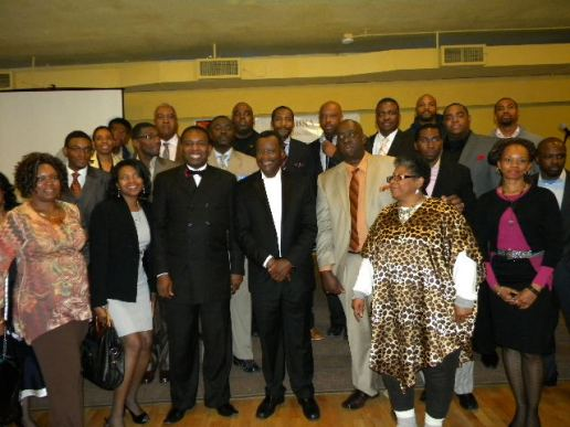 Group with Dr. Willie Wilson. (Photo courtesy of Malcolm Crawford)