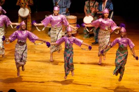 "The youth African dance class perform ""Wolosodun."" (David Pierini/staff photographer)"