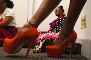 Shoes worn by model Belinda Williams. (David Pierini/Staff Photographer)