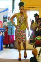 Designer Chanecia Williams also stepped onto the runway as a model. (David Pierini/staff photographer)