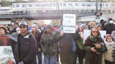 Lawndale Community Church hosted a community march in North Lawndale Dec. 7, following their Sunday morning service. (Medill News Service).